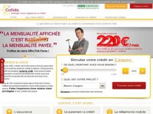 COFIDIS Credit en ligne Suivi de demande Simulation de prêt Conso Avis