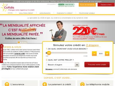 cofidis espace client mon compte credit cofidis mobile www cofidis fr. Black Bedroom Furniture Sets. Home Design Ideas
