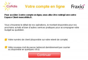 Crédit renouvelable FRAXIO Cofidis – Téléphone, Adresse Virement.