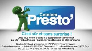 Crédit CETELEM PRESTO en ligne – Contact  Cetelem Presto compte client