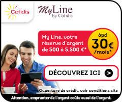 MyLine Cofidis avantages réserve d'argent Crédit Cash Cofidis.be