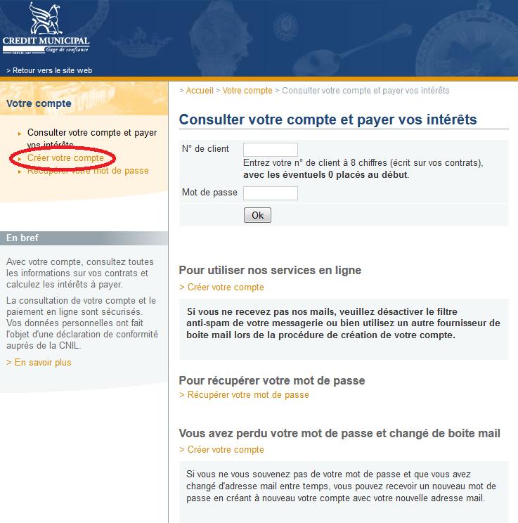 Credit Municipal Toulouse Espace Client